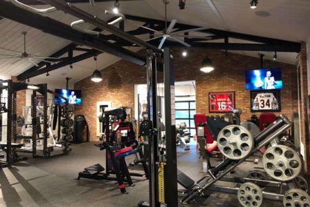 Gym In-Ceiling Speakers & Lighting